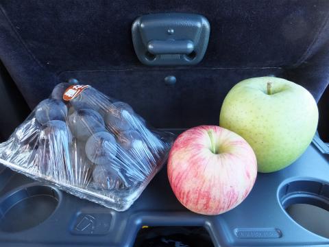 りんご園でゲット