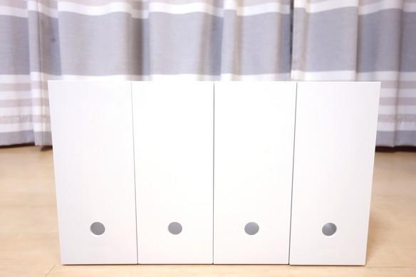 ポリプロピレンファイルボックス・スタンダードタイプ・A4用・ホワイトグレー 約幅10×奥行32×高さ24cm②