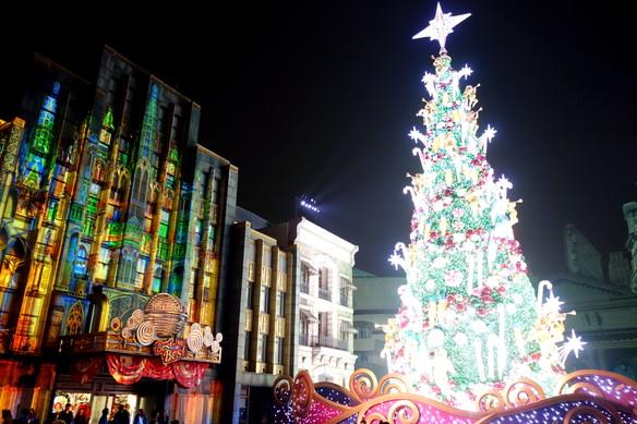 2017年・USJ・クリスマスツリー①
