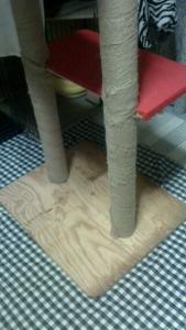 手作り木登りタワー