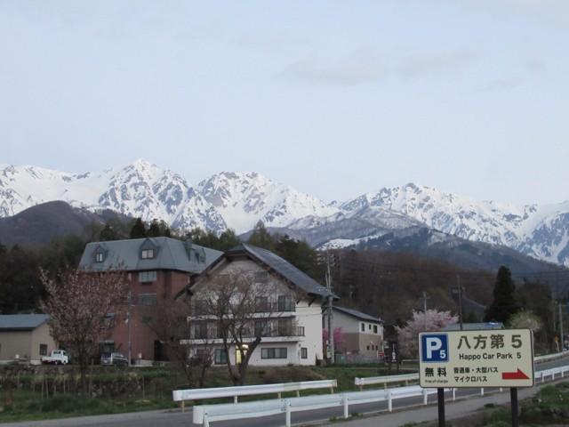 5月5日 第5Pから白馬三山
