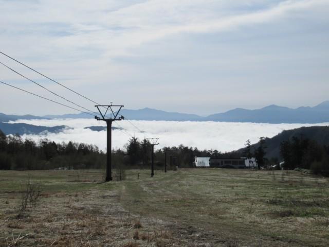 5月14日 ゲレンデ道路から雲海