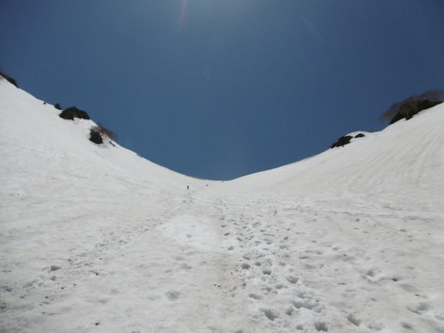 5月20日 針ノ木峠へ登り返し