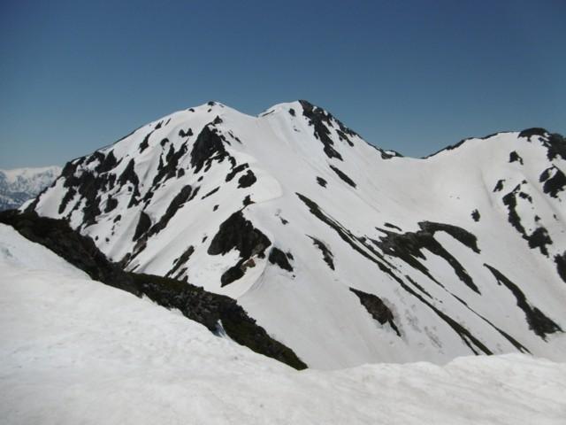 5月20日 さっき滑った針ノ木岳