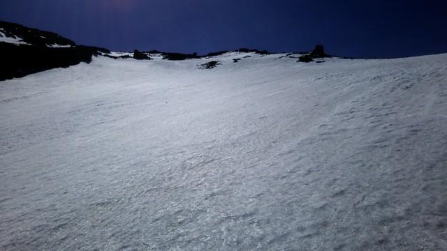 5月21日 上部は雪面キレイ