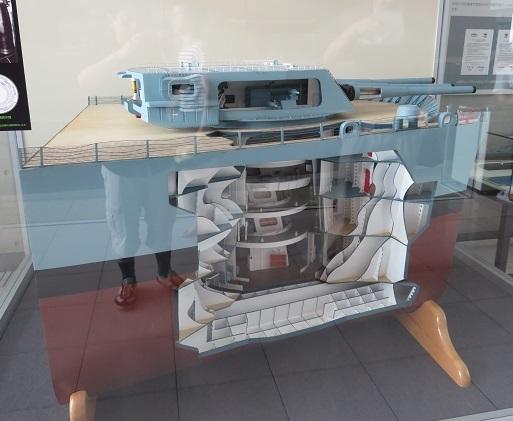 ミズーリ主砲塔模型