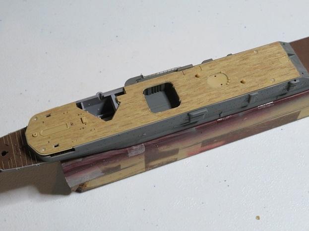 木甲板貼り付け