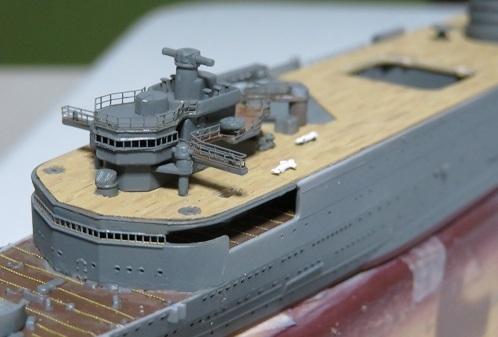 大鯨艦橋部のエッチング
