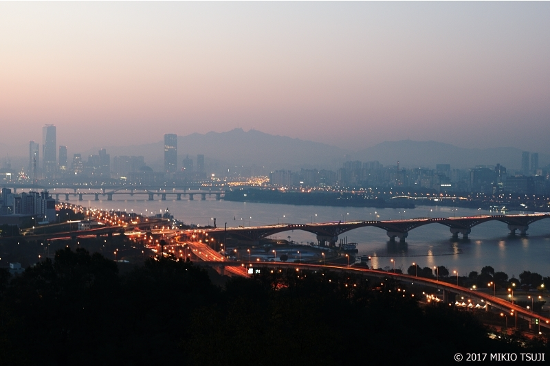 絶景探しの旅 - 0412 漢江の夜明け  (ハヌル公園/ソウル市 麻浦区)