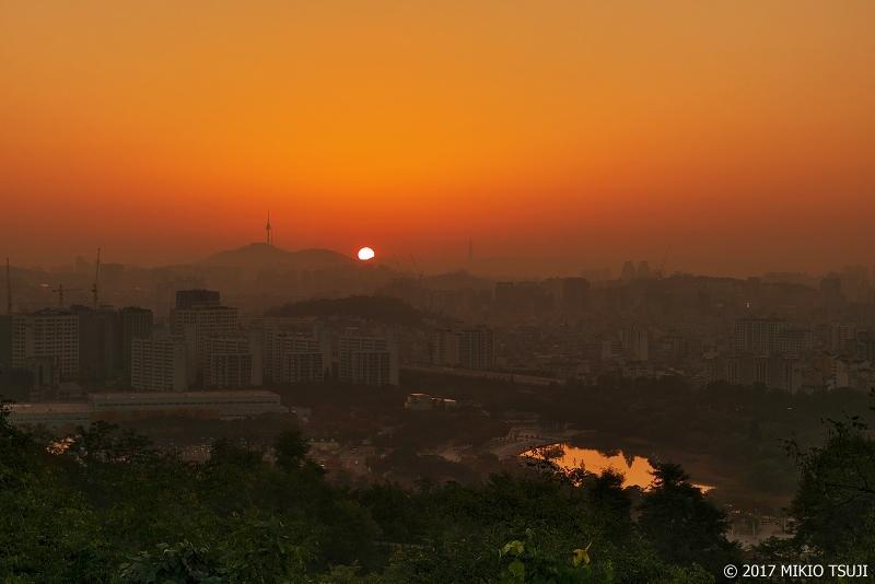 絶景探しの旅 - 0413 ソウルの日の出 (ハヌル公園/ソウル市 麻浦区)