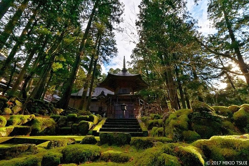 絶景探しの旅 - 0432 苔に覆われた石の庭に立つ報恩塔 (永平寺/福井県 永平寺町)