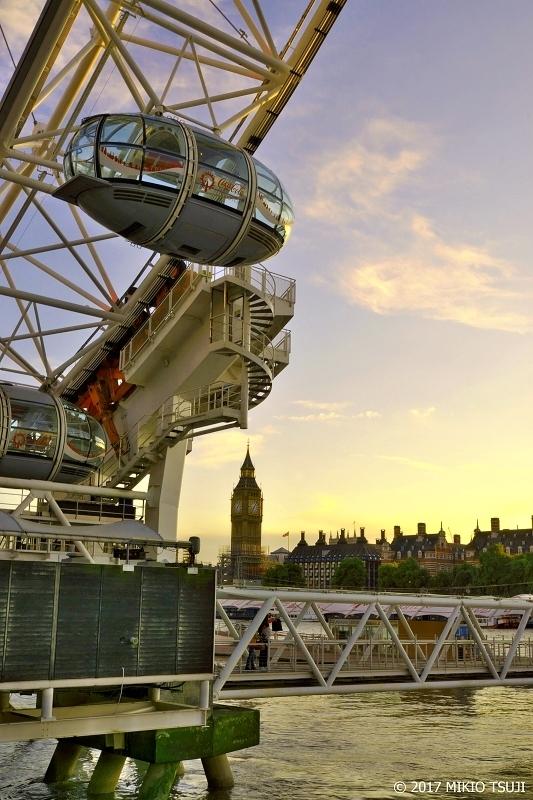 絶景探しの旅 - 0444 夕暮れ時の競演 ビッグベンとロンドンアイ (英国 ロンドン)